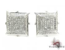 Diamond Boomerang Earrings Metal