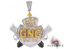 Custom Jewelry - GNG Kool Kat Pendant シルバーペンダント