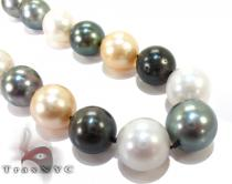 Multi-color Pearl Ladies Necklace 27152 パールネックレス