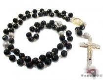 Rosary Diamond Chain 32 Inches, 8mm, 63.5 Grams ダイヤモンド ロザリオ チェーン