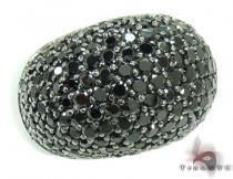 10K Gold & Black Diamond Ring 27167 カラー ダイヤモンド リング