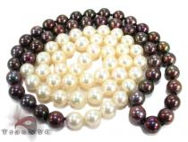 Black and White Pearl Necklace パールネックレス