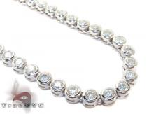 Sterling Silver Bezel Chain 34 Inches 4mm 57.90 Grams Silver Chains