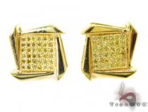 Canary Boomerang Earrings 27230 Metal