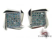 Blue Water Boomerang Earrings 27231 Metal