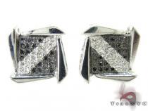 Striped Boomerang Earrings 27233 Metal