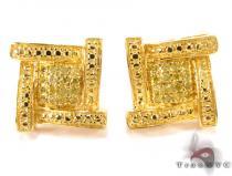 Boomerang Silver Diamond Earrings 27279