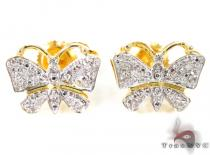 Silver Butterfly Earrings Metal