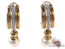 Royal Pearl Earrings 2 Stone