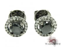Solitaire Black Diamond Earrings Diamond Stud Earrings