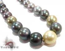 Multi-color Pearl Ladies Necklace 27349 パールネックレス