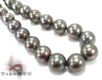 Black Pearl Ladies Necklace 27350 パールネックレス
