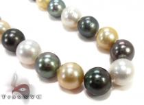 Multi-color Pearl Ladies Necklace 27353 パールネックレス