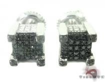 Black Diamond Cube Earrings 27372 Sterling Silver Earrings