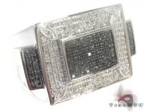 Silver Black and White Color Diamond Ring 27415 Metal