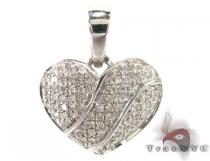 Bubble Heart Diamond Pendant 1 Sterling Silver Charms