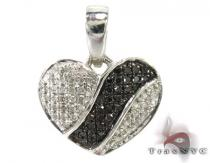 Bubble Heart Diamond Pendant 2 Sterling Silver Charms