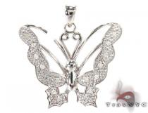 Queen Butterfly Silver Diamond Pendant Sterling Silver Charms