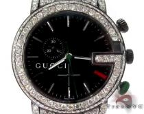 Gucci Chrono White Half Diamond Band Watch Gucci グッチ