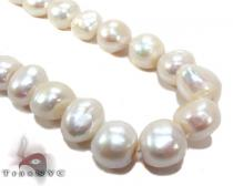 White Pearl Silver Necklace 27607 パールネックレス