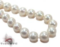 White Pearl Gold Nacklace 27610 パールネックレス