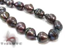 Black Pearl Silver Necklace 27612 Pearl