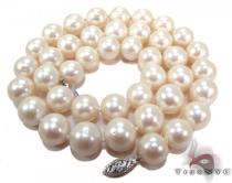 White Pearl Gold Nacklace 27630 パールネックレス