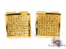 Curve Square Diamond Earrings 27635 Metal