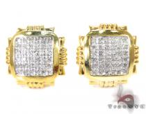Prong Diamond Earrings 27637 Metal