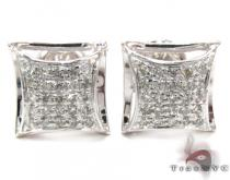 Prong Diamond Earrings 27644 Sterling Silver Earrings