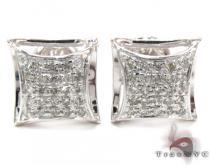 Prong Diamond Earrings 27644 Metal