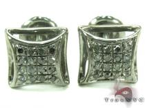 Black Diamond Silver Stud Earrings 27649 Sterling Silver Earrings