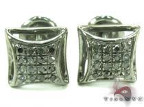Black Diamond Silver Stud Earrings 27649 シルバーイヤリング