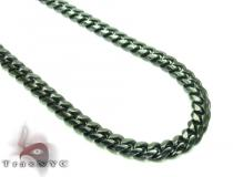 Miami Black Silver Chain 36 Inches, 3mm, 25.5 Grams Silver