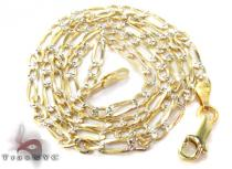 Figaro Diamond Cut Silver Chain 16 Inches, 3mm, 4 Grams Silver