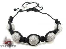 White Crystal Rope Bracelet 27740 Rope Bracelets