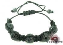 Black Crystal Rope Bracelet 27741 Rope Bracelets