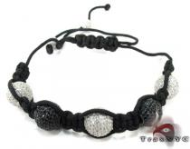 White and Black Crystal Rope Bracelet 27742 Rope Bracelets