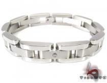 White Stainless Steel Bracelet 27746 ステンレススティール ブレスレット
