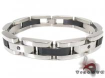 Two Tone Color Stainless Steel Bracelet 27748 Stainless Steel