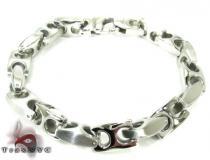 White Stainless Steel Bracelet 27750 ステンレススティール ブレスレット
