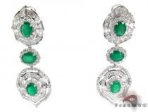 Emerald Diamond Drop Earrings Gemstone Earrings