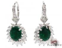 Protea Emerald with Marquise Diamond Earrings ジェムストーンイヤリング