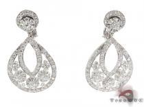 Snowflake Diamond Earrings Stone