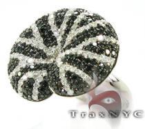 Black & White Diamond Twirl Ring レディース ダイヤモンド リング