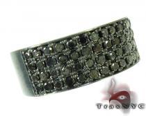 4 Row Black Diamond Ring メンズ ダイヤモンド リング