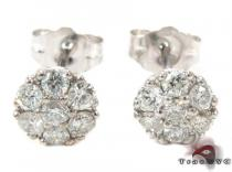 Cluster Diamond Stud Earrings Mens Stud Earrings