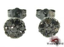 Cluster Black Diamond Stud Earrings メンズ ダイヤモンドスタッズイヤリング