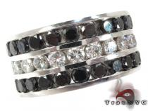 Custom Channel Diamond Ring Mens Black Diamond Rings