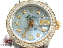 Rolex Datejust Steel and Yellow Gold Ladies Rolex Collection